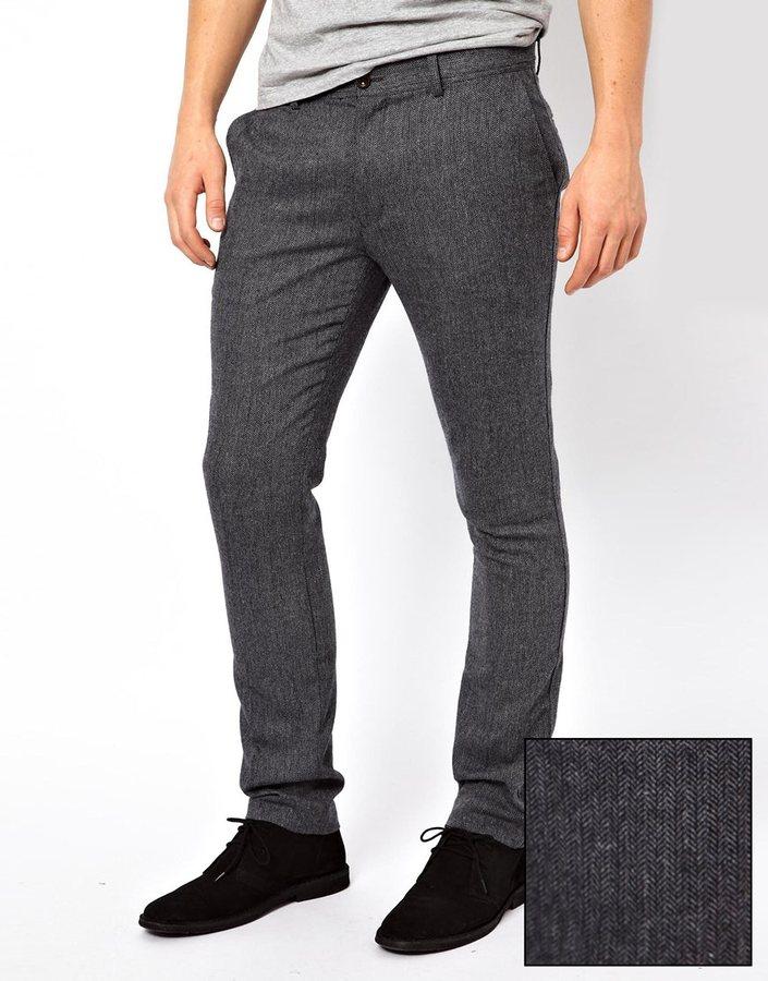 Farah Vintage Pants In Herringbone