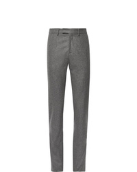 Salle Privée Anthracite Rocco Slim Fit Mlange Wool Flannel Suit Trousers