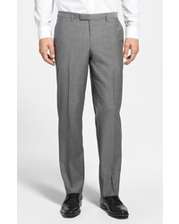 Hugo Boss Boss Shark Flat Front Plaid Wool Trousers
