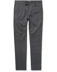 Oliver Spencer Cotton And Wool Blend Trousers