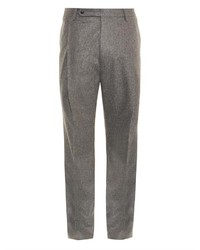 Lanvin Flannel Tailored Trousers
