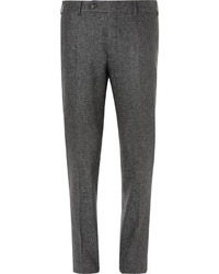 Canali Flecked Wool And Silk Blend Trousers