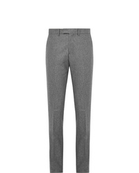 Salle Privée Grey Rocco Slim Fit Mlange Wool Flannel Suit Trousers