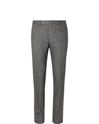 Hugo Boss Grey Slim Fit Tapered Virgin Wool Blend Tweed Trousers