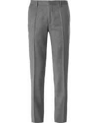 Hugo Boss Grey Slim Fit Virgin Wool Flannel Trousers
