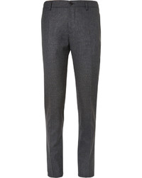 Etro Grey Slim Fit Wool Blend Trousers