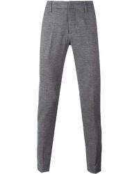 Dondup Herringbone Pattern Tapered Trousers