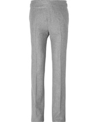 Kingsman slim fit wool flannel trousers medium 1148213