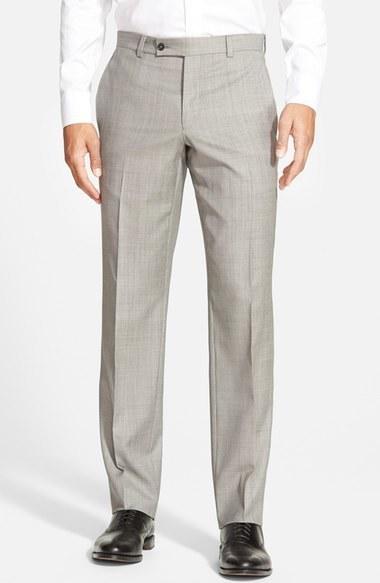 8d7a0ff22 ... Ted Baker London Jefferson Flat Front Wool Trousers ...