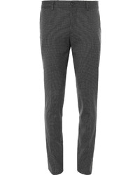 Dolce & Gabbana Slim Fit Houndstooth Stretch Wool Trousers