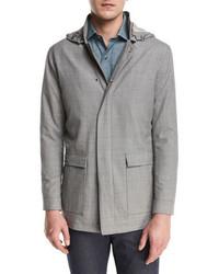 Grey Wool Field Jacket
