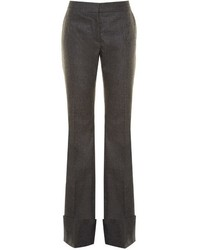 Flared wool and cashmere blend trousers medium 824264