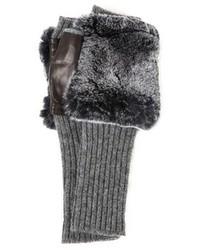 Carolina Amato Fingerless Fur Gloves