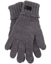 Saint Laurent Leather Panel Gloves