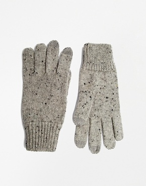 Asos Touch Screen Gloves In Nep Yarn