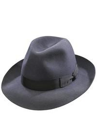 Borsalino Fedora Fur Felt Hat Classic Charcoal Grey Size 62