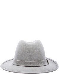 Laveer Wool Felt Fedora In Pale Grey