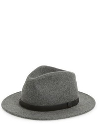 Brixton Messer Wool Fedora Grey