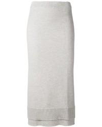 Victoria Beckham Layered Knit Midi Skirt