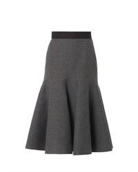 Lanvin Ribbed Wool Blend Midi Skirt