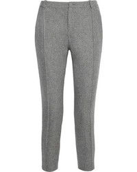 Bouchra Jarrar Cropped Striped Wool Slim Fit Pants
