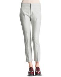 Jil Sander Slim Leg Back Yoke Flannel Pants Gray