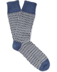 Corgi Dotted Wool And Cotton Blend Socks