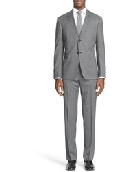 Z Zegna Drop 7 Trim Fit Solid Wool Suit