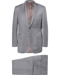 Canali Grey Regular Fit Wool Suit
