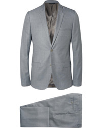 Calvin Klein Collection Grey Slim Fit Wool And Silk Blend Suit