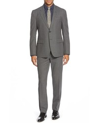 Haspel Journeyman Trim Fit Solid Wool Suit