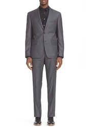 John Varvatos Star Usa Trim Fit Solid Wool Suit