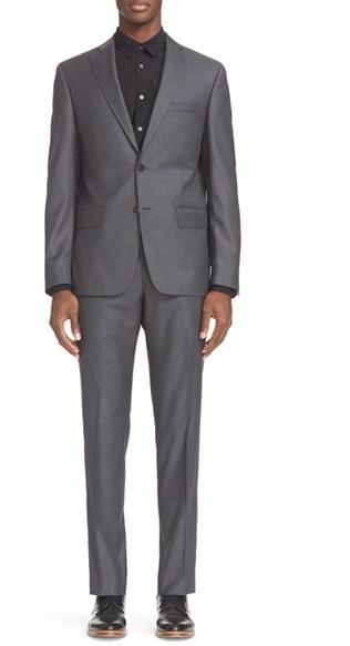 John Varvatos Star Usa Trim Fit Solid Wool Suit