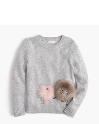 J.Crew Girls Furry Max The Monster Wool Popover Sweater