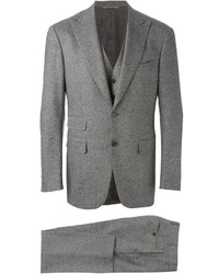 Grey Wool Three Piece Suit