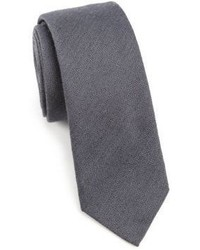Saks Fifth Avenue Collection Modern Textured Wool Silk Tie