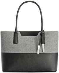 Grey Wool Tote Bag