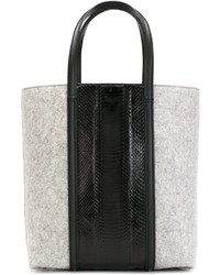 Faux snakeskin panel tote medium 340384