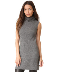 Alice + Olivia Fay Slit Rib Mock Neck Tunic