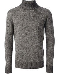 Grey Wool Turtleneck