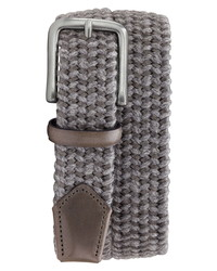 Grey Woven Canvas Belt