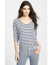 Horizontal Striped Crew-neck T-shirt