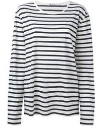 Horizontal striped long sleeve t shirt original 1287971