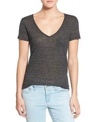 Horizontal striped v neck t shirt original 1310003