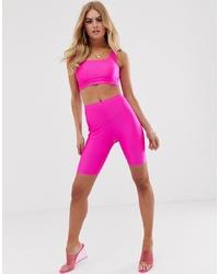 ASOS DESIGN Co Ord Legging Shorts In Neon