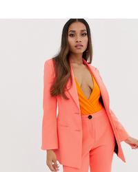 Asos Petite Asos Design Petite Fluro Pink Suit Blazer