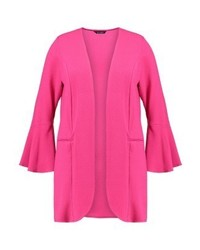 Evans Flute Sleeve Longline Summer Jacket Hot Pink