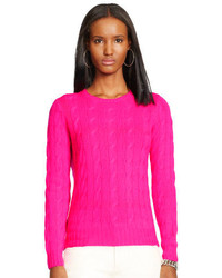 Hot Pink Cable Sweater