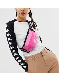 Kappa Authentic Anais Logo Bumbag In Pink