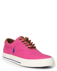Hot Pink Canvas Low Top Sneakers